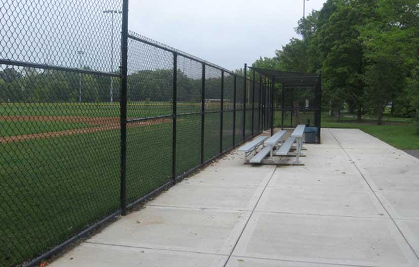 baseball diamond chain link fencing application